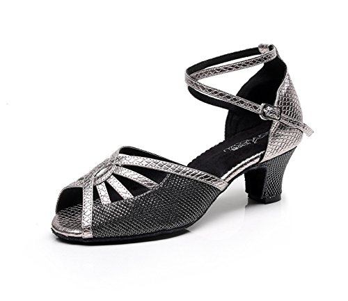 Sandals High Heels Dance Modern Jazz EU33 JSHOE Women's 5cm Shoes Grey UK3 Samba Chacha Dance Salsa Tango heeled7 Our34 Latin 4OPxv4wq7
