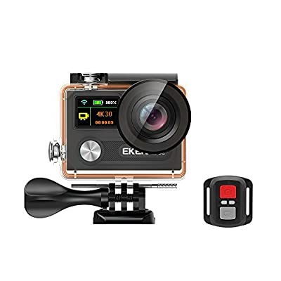 EKEN H8R, Ultra HD 4K Waterproof Action Camera (Sports DV Camcorder with 2.4G Remote and 28 Mountings Kit), one of the most cost-effective Sports Cameras