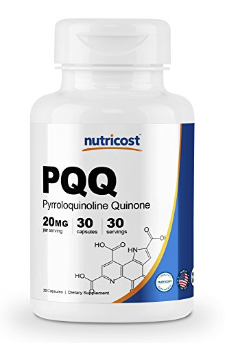 Nutricost PQQ (Pyrroloquinoline Quinone) 20mg, 30 Capsules - High Quality, Veggie Capsules, Non-GMO, Gluten Free