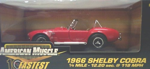 Ertl American Muscle 10 Fastest 32760 1966 Shelby Cobra Red 1:18 Scale Diecast