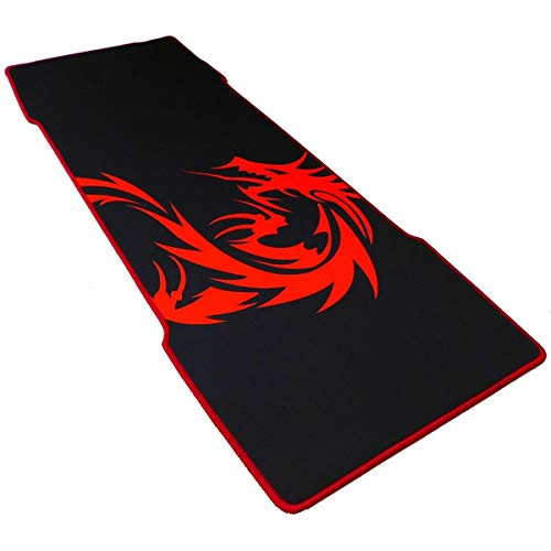 Non-Slip PU Base Red Tame Dragon --EXCO Mousepad with Soft Comfort Silica Gel Wrist Support Smooth Surface Gaming Wrist Support Mouse Pad-Fit for Computers and Laptops