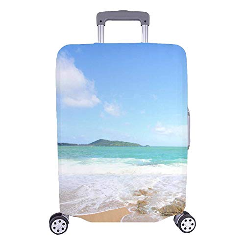 - InterestPrint Custom Tropical Ocean Beach Holiday Travel Business Luggage Cover Protector Suitcase Elastic 25