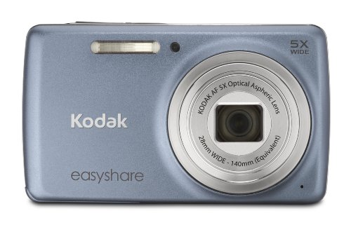 Kodak EasyShare M552 14 MP Digital Camera with 5x Optical Zoom and 2.7-Inch LCD - BlueGray
