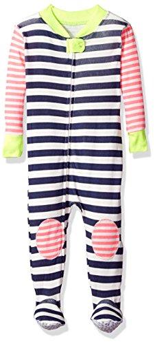 Rosie Pope Baby Girls Coveralls Snug Fit, White Stripe, 12M