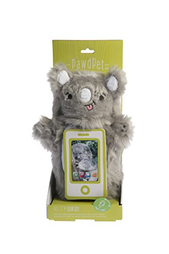 PawdPet Plush Protective Pals Eukie (Koala) Small Magnetic Holder & Carrier for iPhone, iPod Touch, and mobile devices up to 4'' screen size