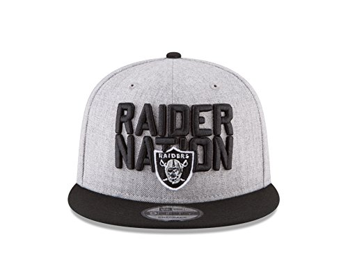 Cap Raiders Draft (New Era Oakland Raiders Official 2018 NFL Draft On-Stage Snapback 9Fifty Adjustable Hat - Heather Grey)