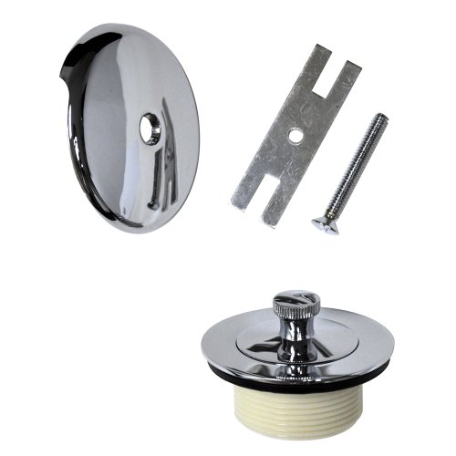 Danco 88966 Universal Lift and Turn Bath Drain Trim Kit with Overlfow, Chrome (Bath Replacement)