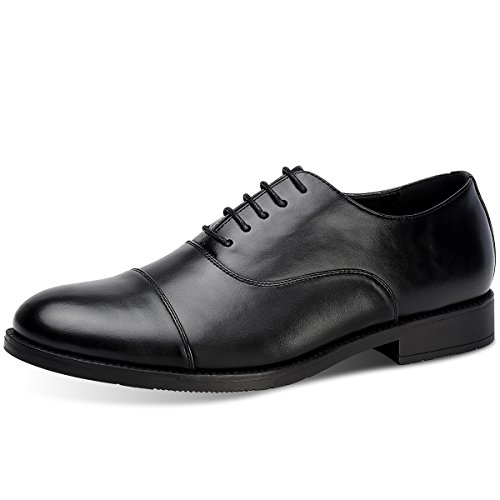 Mens Leather Oxford Dress Shoes (Men's Oxford Dress Shoes Leather Formal Shoes (12, Black))
