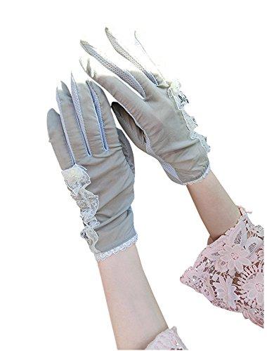 formanism エレガント キレイめ フラワー レースライン 上品 サマー手袋 レディース