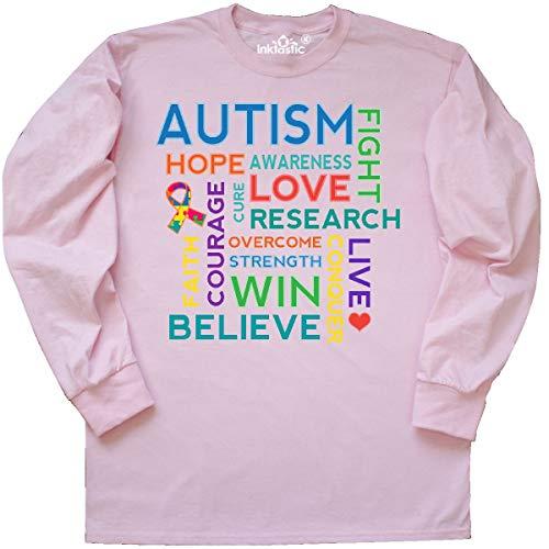 - inktastic - Autism Support Slogan Long Sleeve T-Shirt Medium Classic Pink 1e957
