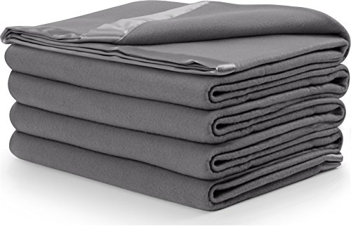 Polar Fleece Blanket Grey Lightweight Couch