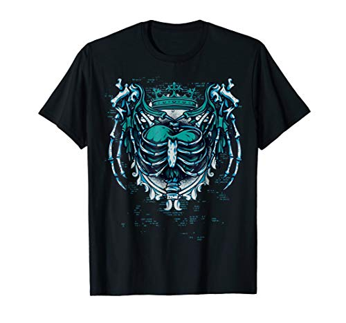 Halloween Goth Rock and roll Heart T-shirt
