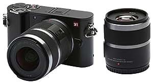 YI M1 4K cámara Digital sin Espejo con Lentes Intercambiables 12-40mm F3.5-5.6 20 Megapixel Negro tormenta (Two Lenses)