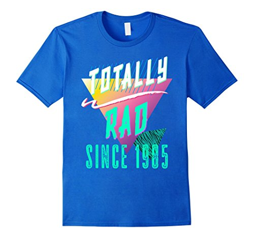 Mens Totally Rad 80s Throwback T-Shirt - Funny 1985 Birthday Tee Large Royal (80's Fitness Costumes Men)