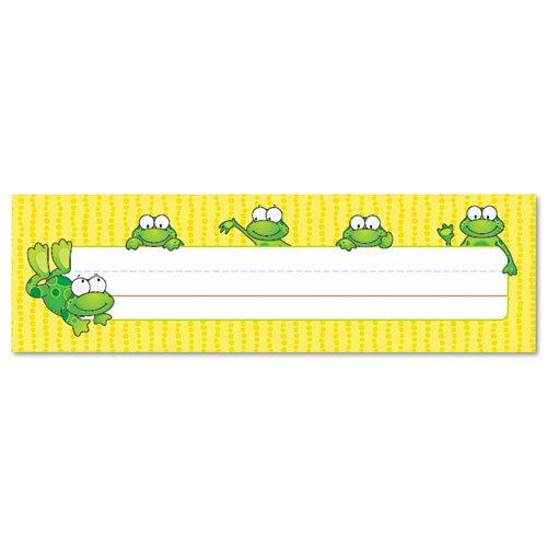 (Carson-Dellosa Publishing - Desk Nameplates, Frogs, 9 1/2