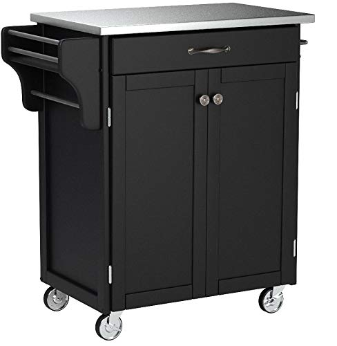 Create-a-Cart Black 2 Door Kitchen Cart with Stainless Steel Top by Home Styles by Home Styles (Image #3)