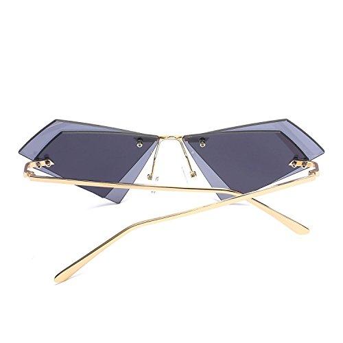 polarizadas sin de hombre Aolvo metal sol multicolor vintage marco y retro mujer estilo con gris sol Gafas de de gafas para UV400 Gris marco protección Gris estilo 100 HIItq