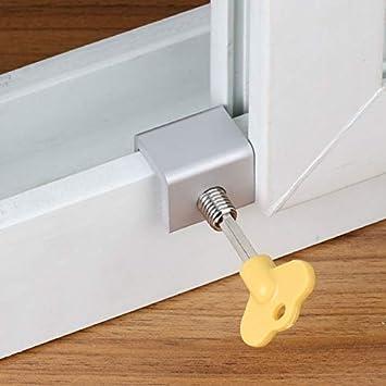 2019 Cerradura de seguridad para ventana corredera de aleación de aluminio para marco de puerta con llaves de seguridad: Amazon.es: Bricolaje y herramientas