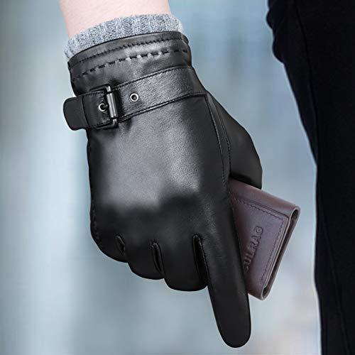 HWWHH Men& 039;s Winter Warm Leder Gloves Men& 039;s Real Leder Cold Gloves Leder Gloves Men Winter Driving