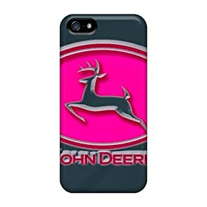 Anti-scratch And Shatterproof John Deere Pink Phone Case For Iphone 5/5s/ High Quality Tpu Case