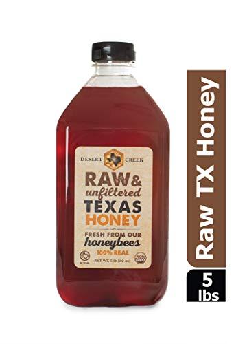 (Desert Creek Honey Raw, Unfiltered, Unpasteurized Texas Honey, 5 lb., 80)