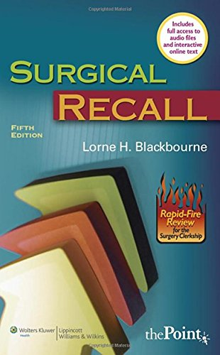 Surgical Recall, Fifth  North American Edition (Recall Series) by Brand: Lippincott Williams n Wilkins