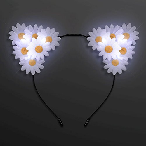 blinkee LED Daisy Flowers Cat Animal Ears Headband by