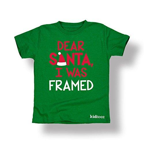 Dear Santa I Was Framed Christmas Humor Funny Holiday Novelty - Toddler T-Shirt