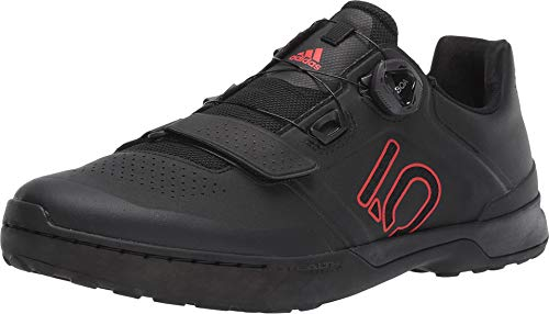 Five Ten Kestrel Pro Boa Mens Mountain Bike Shoes, Black/Red/Grey Six, 13