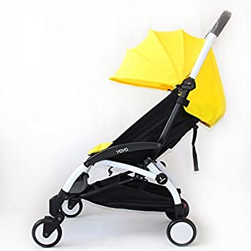 Color Pack, Canopy and Seat Pad Set Compatible For BabyZen YOYO YOYO+ Stroller, Yellow ROMIRUS YY06-4YW