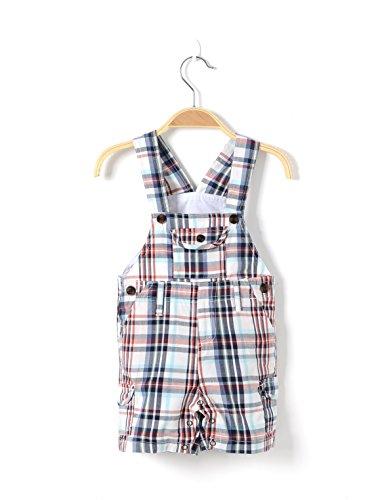 Hi 9 Shop Little Boy Newborn Lattice Shortall Open-seat Pants (23.22''(0-3 Months))