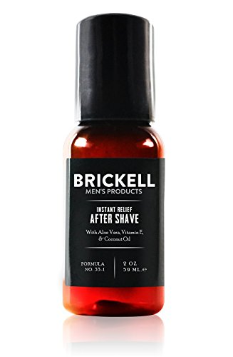 Brickell Men's Instant Relief Aftershave for Men, Natural and Organic Soothing After Shave Balm to Prevent Razor Burn, 2 Ounce, Scented (Best New Mens Aftershave)