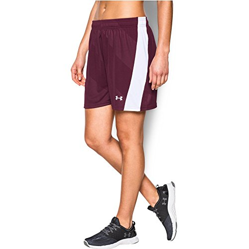 Under Armour Women's The Ua Fixture Shorts, Maroon /White, ()