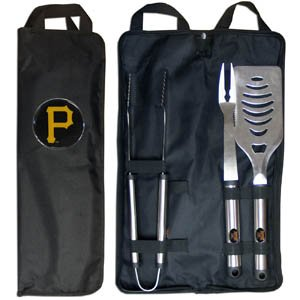 MLB Pittsburgh Pirates Stainless Steel BBQ Set with Bag