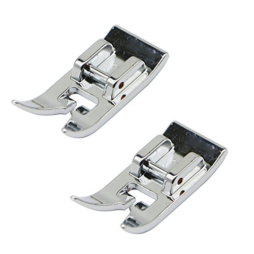 (STORMSHOPPING 2 Pcs Universal General Purpose Zig Zag Foot for Singer, Brother, Janome, Kenmore, babylock, Toyota, etc. Domestic Low Shank Sewing)