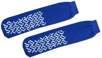 Tred Mates - Slipper Socks - Tred Mates - Adult Size (Red or Blue) (Blue) by Nobles Health Care Products