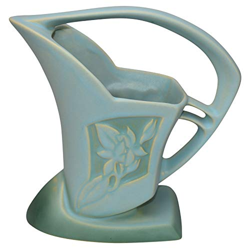 Roseville Pottery Silhouette Art Deco Blue Basket 709-8 ()