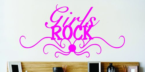 Design with Vinyl OMG 413 As Seen Dark Pink Girls Rock Quote Lettering Decal, 14 x 30-Inch