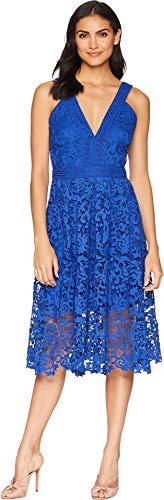 Adelyn Rae Marilyn Woven Lace Midi Dress Cobalt LG