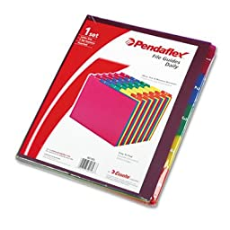Top Tab File Guides, Daily/1-31, 1/5 Tab, Polypropylene, Letter, 31/Set, Sold as 1 Set