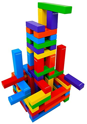 - Magz Wooden Bricks 60 Piece Magnetic Building and Stacking Blocks Set