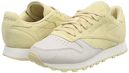 sandstone chalk Para Classic Leather straw Reebok Zapatillas 000 Nbk Mujer Beige wST0ngqx7