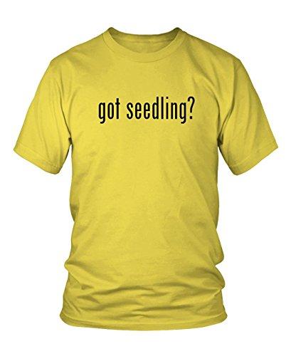 got seedling? Men's Adult Short Sleeve T-Shirt, Yellow, Small (Yellow Seedling)