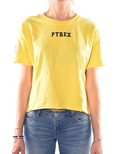 Corta Shirt Donna Pyrex 33820 Maglia Giallo qtz0fHx
