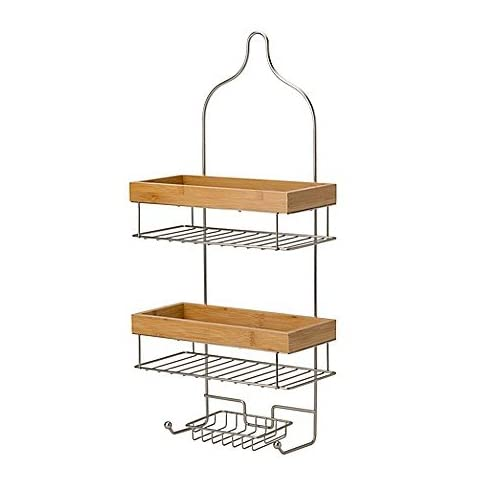 Laura Ashley 3-Tier Natural Shower Caddy in Satin hot sale