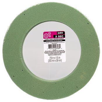 2 PACK Floral Green Foam Ring for Wreath Design 7.9 in x 1.5 in ( 200 mm x 38 mm) by Dry a sec