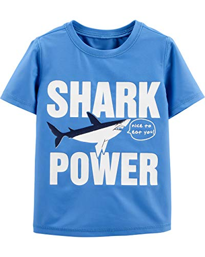 (Osh Kosh Toddler Boys' Rashguard, Shark Power, 2T)