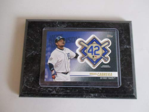 - MIGUEL CABRERA DETROIT TIGERS 2018 MLB TOPPS UPDATE SERIES COMMEMORATIVE JACKIE ROBINSON PATCH PLAYER CARD MOUNTED ON A 4