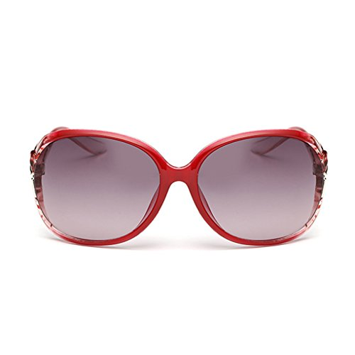 de Elegantes PC de luz de Gafas de sol Gafas color de sol mujer gafas UV400 Regard roja sol FxpwqcP4Xc
