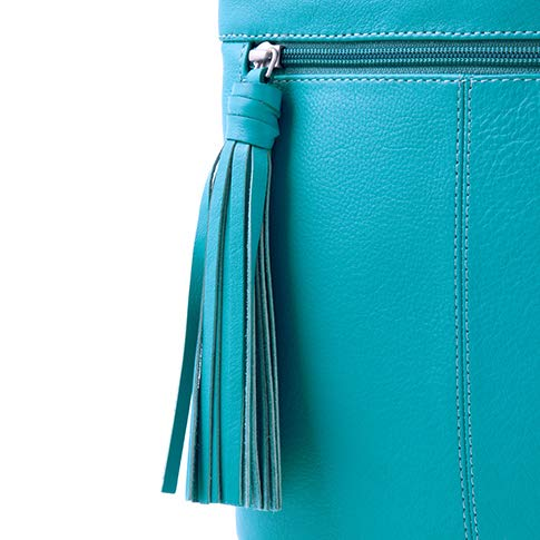 Detail w Bag Pocket Women's Body Alexis Blue Soft Grained Leather Tassel Cross wxvSZOq